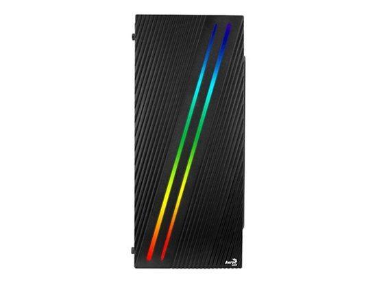 Aerocool PC skříň ATX STREAK RGB USB 3.0 - DOUBLE RGB STRIP 1x80mm FAN Černá, AEROPGSSTREAK-A-BKRG