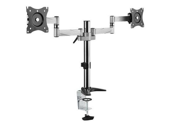 LOGILINK - Dual alumium monitor desk mount, BP0077