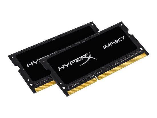 HyperX Impact 16GB (Kit 2x8GB) 2133MHz DDR3L CL11 SODIMM 1.35V, černý chladič, HX321LS11IB2K2/16