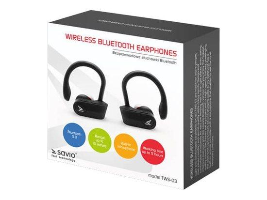 SAVIO TWS-03 Bezdrátová bluetooth sluchátka