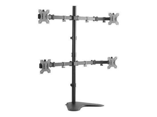 LOGILINK - Quad monitor desk stand,13-32``, max. 8 kg, BP0046