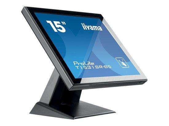 Monitor IIyama T1531SR-B5 15inch, TN touchscreen, 1024x768, D-Sub/DVI, speakers, T1531SR-B5