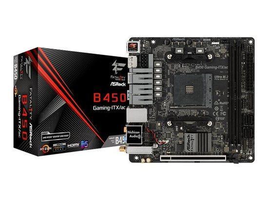 ASROCK MB B450 GAMING-ITX/AC (AM4, amd B450, 2xDDR4 3466, WIFI, 4xSATA3, 7.1, HDMI+Dport, USB3.1, mini ITX) novinka, B450 GAMING-ITX/AC