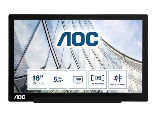 """AOC LCD I1601FWUX 15,6""""/1920x1080/5ms/700:1/USB-C, I1601FWUX"""