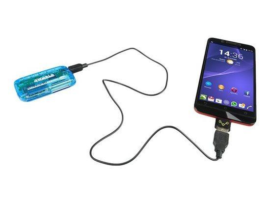 4World Adaptér OTG USB 2.0 Micro USB M - USB F, 10288-OEM