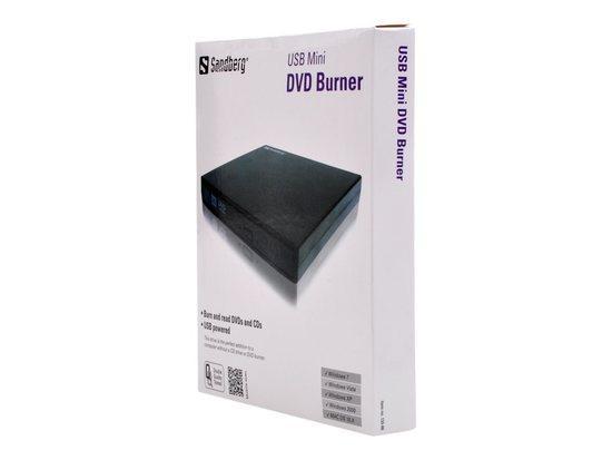 CD/DVDzapisovací mechanika, USB 2.0, externí, SANDBERG, 133-66