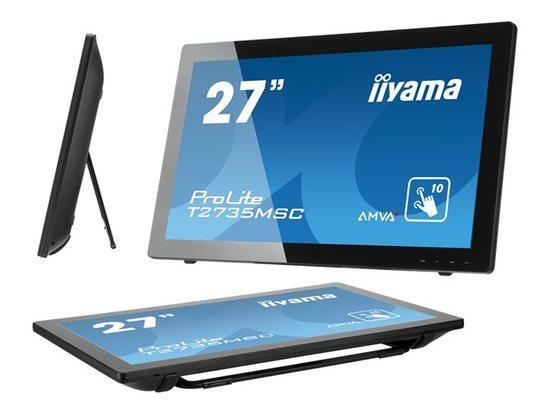 Iiyama LCD T2735MSC-B2 27``LED AMVA+ dotykový,5ms,VGA/DVI/HDMI,repro,1920x1080,č, T2735MSC-B2