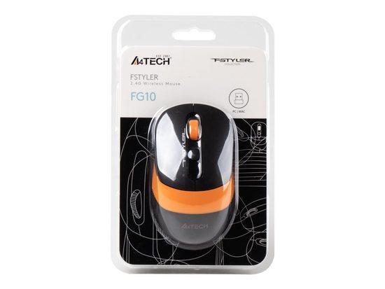 Mouse A4TECH FSTYLER FG10 RF Orange