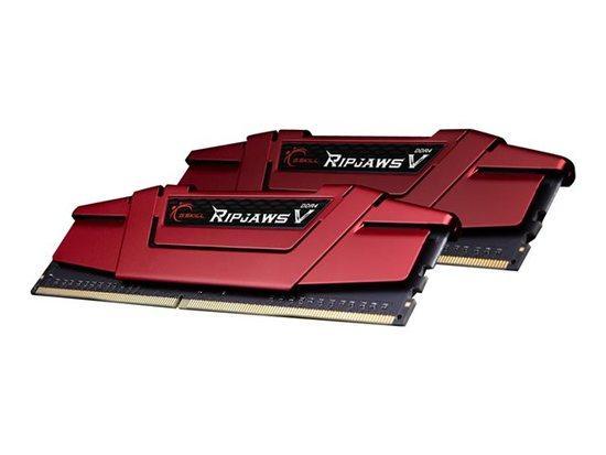 G.Skill RipjawsV DDR4 16GB (2x8GB) 3200MHz CL15 1.35V XMP 2.0 Red, F4-3200C15D-16GVR