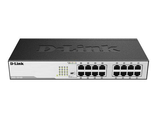 D-Link DGS-1016D/E 16-Port 10/100/1000Mbps Copper Gigabit Ether. Switch, DGS-1016D/E