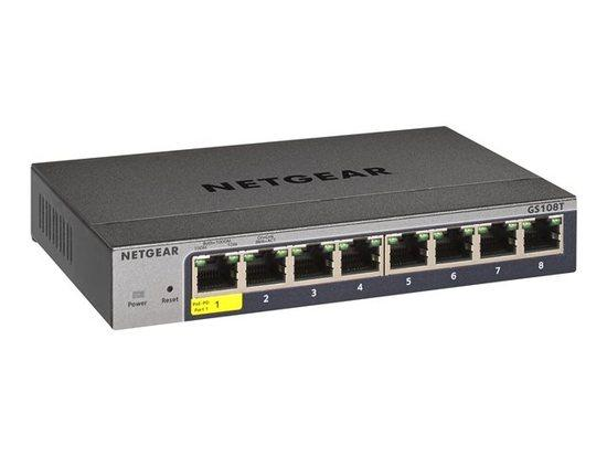 Netgear 8P GE SMART MANAGED PRO SWITCH, GS108T-300PES