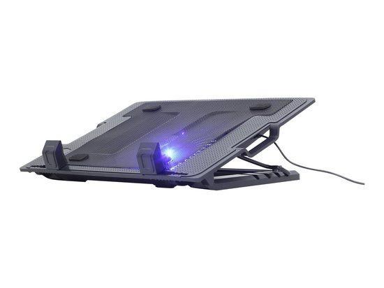 """GEMBIRD Podstavec pod notebook NBS-1F17T-01, pro notebooky do 17"""", 150mm větrák, LED, černý"""