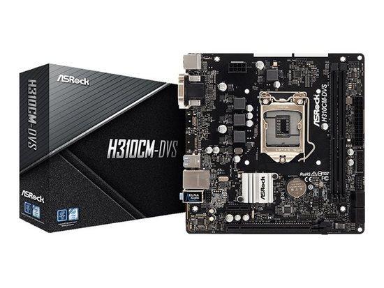 ASROCK MB H310CM-DVS (intel 1151v2 coffee lake, 2x DDR4 2666, GLAN, 4xSATA3, USB3.0, VGA +DVI, mATX) pro intel coffee lake, H310CM-DVS