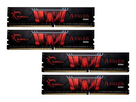 G.SKILL F4-3200C16Q-64GIS G.Skill Aegis DDR4 64GB (4x16GB) 3200MHz CL16 1.35V XMP 2.0, F4-3200C16Q-64GIS