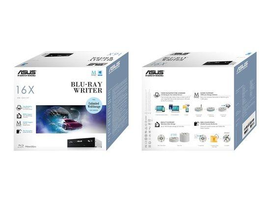 ASUS BW-16D1HT BLACK interní BD-RW bulk, 90DD0200-B30000