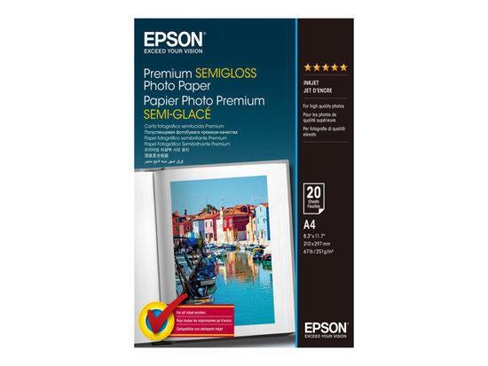 Levně EPSON A4, Premium Semigloss Photo Paper (20listů), C13S041332