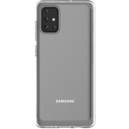Poloprůhledný zadní kryt pro Samsung Galaxy A71 Transparent