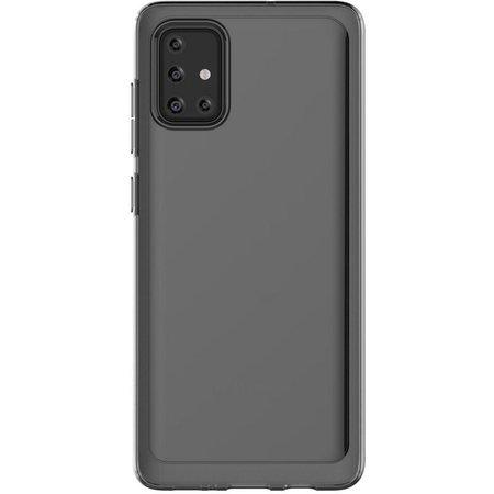Poloprůhledný zadní kryt pro Samsung Galaxy A71 Black