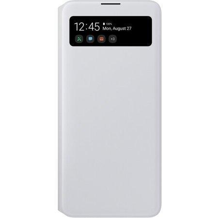 Pouzdro na mobil flipové Samsung S View Wallet Cover pro Galaxy A71 - bílé