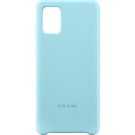 Kryt na mobil Samsung Silicon Cover pro Galaxy A71 - modrý