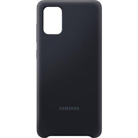 Kryt na mobil Samsung Silicon Cover pro Galaxy A71 - černý