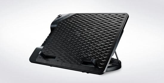 "Coolermaster chladicí podstavec NotePal ErgoStand III pro NTB do 17"", USB hub, black, 23cm fan, R9-NBS-E32K-GP"