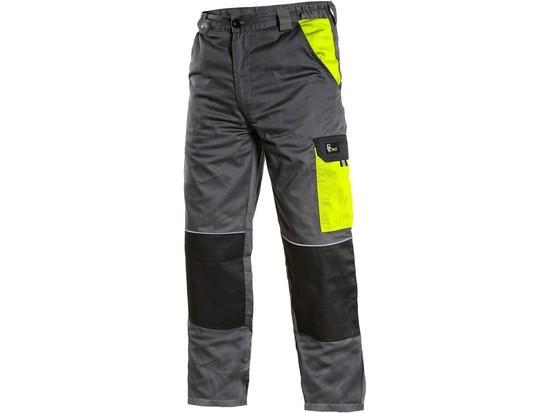 Kalhoty CXS PHOENIX CEFEUS, šedo-žlutá, vel. 56