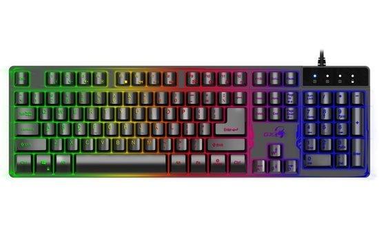 GENIUS klávesnice GX GAMING Scorpion K8, Drátová, USB, černá, CZ+SK layout, podsvícená, SmartGenius App