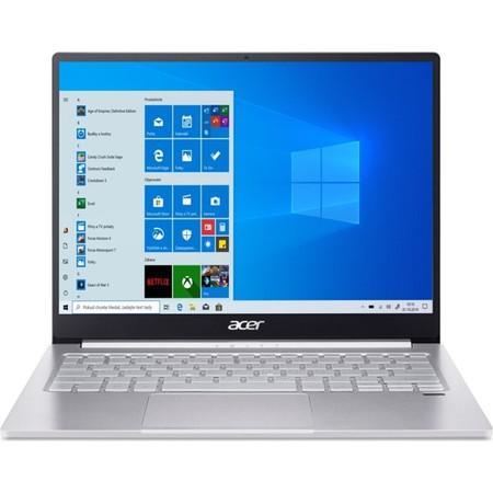 """Ntb Acer Swift 3 (SF313-52-54D1) i5-1035G4, 16GB, 512GB, 13.5"""", 2256 x 1504, bez mechaniky, Intel Iris Plus Graphics, BT, FPR, CAM, W10 Home - stříbrný, NX.HQXEC.003"""