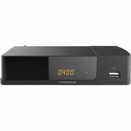 THOMSON DVB-T/T2 přijímač THT 709/ Full HD/ H.265/HEVC/ CRA ověřeno/ PVR/ EPG/ USB/ HDMI/ LAN/ SCART/ černý