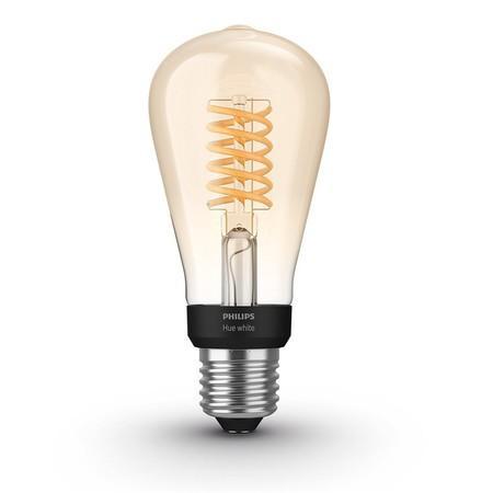Philips Hue Filament BT LED žárovka E27 ST64 9W teplá bílá / chytrá LED žárovka / 600 lm / 2200 K / stmívatelná (