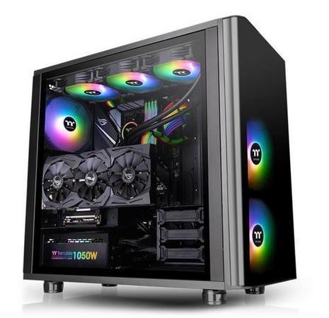 THERMALTAKE case View 31 TG ARGB černý s oknem, 2x TG, 3x fan 140mm ARGB 140mm (ATX case bez zdroje), CA-1H8-00M1WN-02