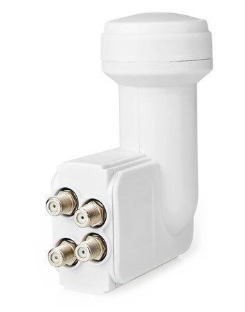NEDIS univerzální LNB konvertor/ čtyři výstupy/ úroveň šumu: 0,2–0,85 dB