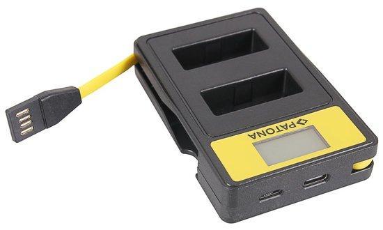 PATONA nabíječka Foto Dual Canon LP-E12 s LCD,USB
