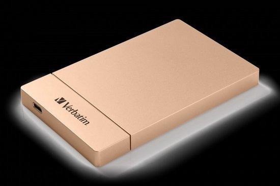 """Box na HDD Verbatim pro 2,5"""" HDD SATA, USB-C / USB 3.1. Gen2 - růžový, 53105"""