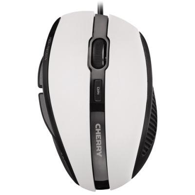 CHERRY myš MC 3000, USB, drátová, ergonomická, bílá