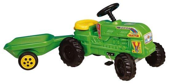 DOHÁNY Šlapací traktor s vlečkou - zelený