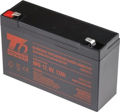 Akumulátor T6 Power NP6-12, 6V, 12Ah, T6UPS0013