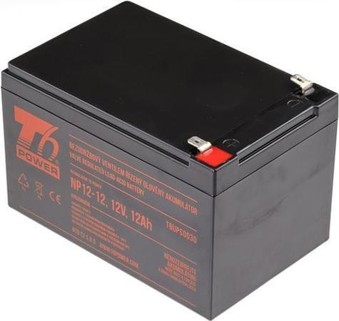 T6 POWER olověný akumulátor NP12-12, 12V, 12Ah, T6UPS0030