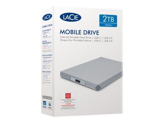Ext. HDD LaCie Mobile Drive 2TB USB-C šedá, STHG2000402