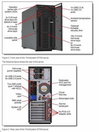 """Lenovo ThinkSystem ST550 1x Silver 4208 8C 2.1GHz 85W/1x16GB/0GB 2,5""""(8)/930-8i(2GB f)/XCC-E/750W, 7X10A0CWEA"""