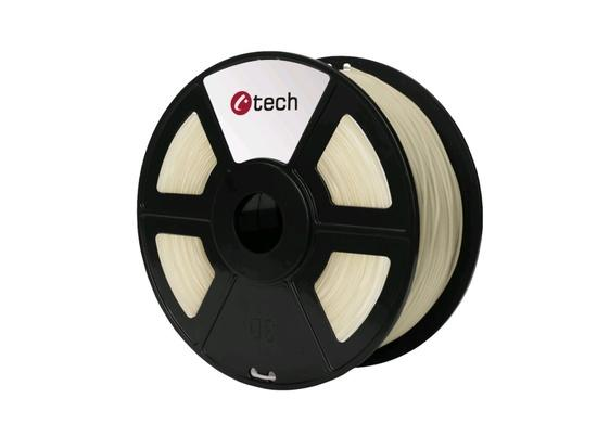 Tisková struna (filament) C-TECH, PETG, 1,75mm, 1kg, transparentní, 3DF-PETG1.75-CL