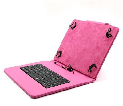 """C-TECH PROTECT pouzdro univerzální s klávesnicí pro 9,7""""-10,1"""" tablety, FlexGrip, NUTKC-04, růžové"""