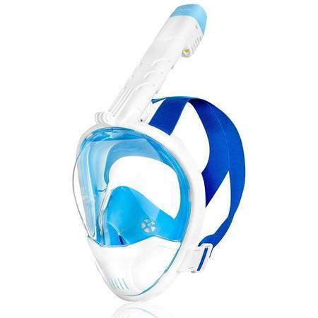 Spokey KARWI BL/WT Celoobličejová maska - bílá S/M
