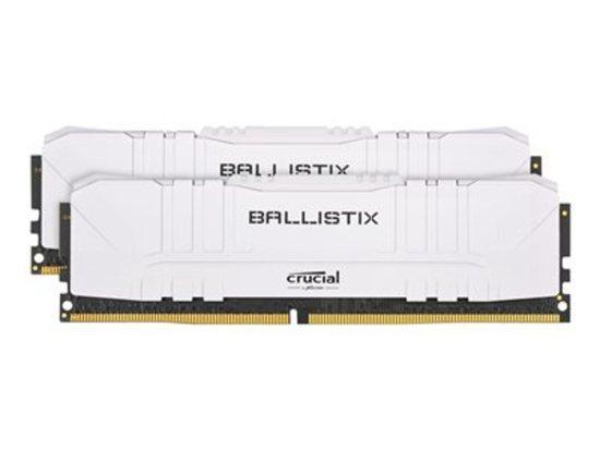 Crucial DDR4 16GB (2x8GB) Ballistix DIMM 2666MHz CL16 bílá, BL2K8G26C16U4W