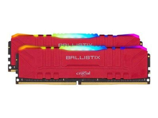 Crucial DDR4 16GB (2x8GB) Ballistix RGB DIMM 3200MHz CL16 červená