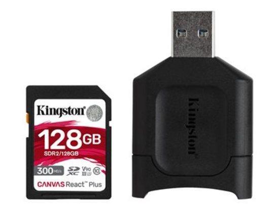 Kingston paměťová karta 128GB SDXC React Plus SDR2 + MLP SD Reader