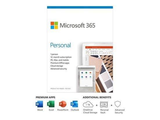 MS 365 Personal EuroZone Subscr 1YR Medialess P6 (PL), QQ2-01000