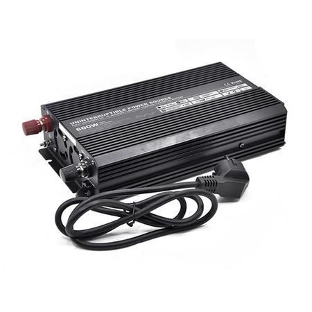 Měnič s nabíječkou 24V/230V 600W, modifikovaná sinus, CARSPA UPS600-242