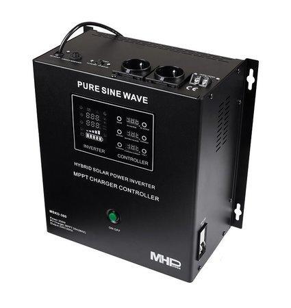 Záložní zdroj MHPower MSKD-300, UPS, 300W, čistý sinus, 12V, solární regulátor MPPT